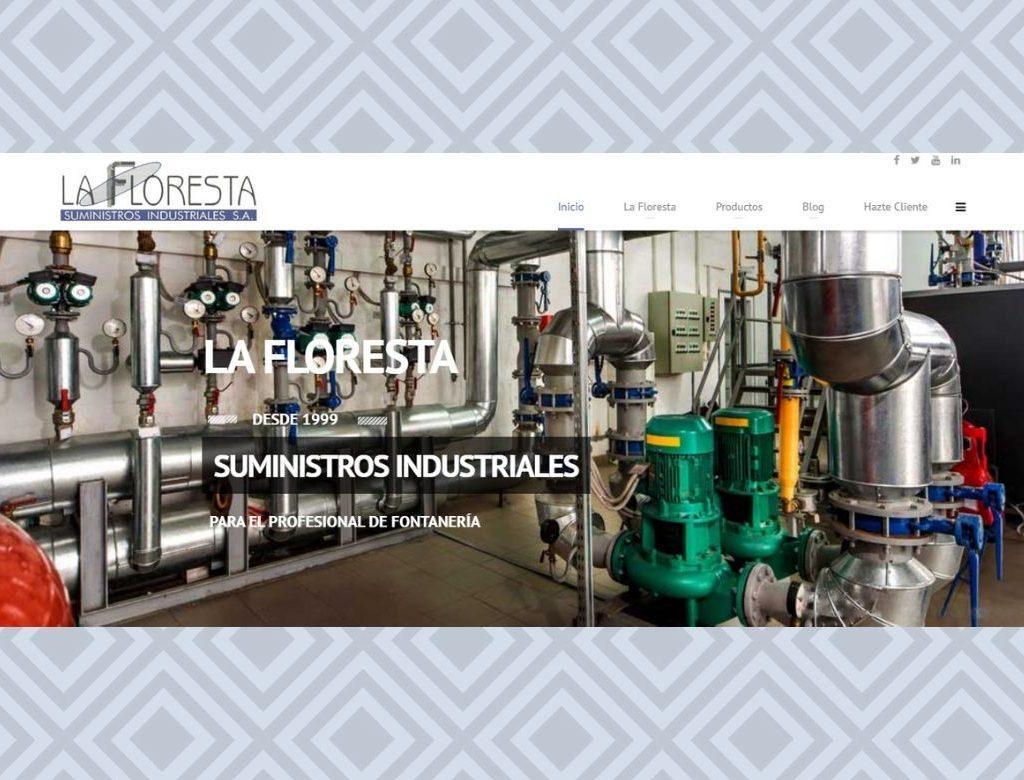 Pagina web suministros industriales Talavera de la Reina La Floresta
