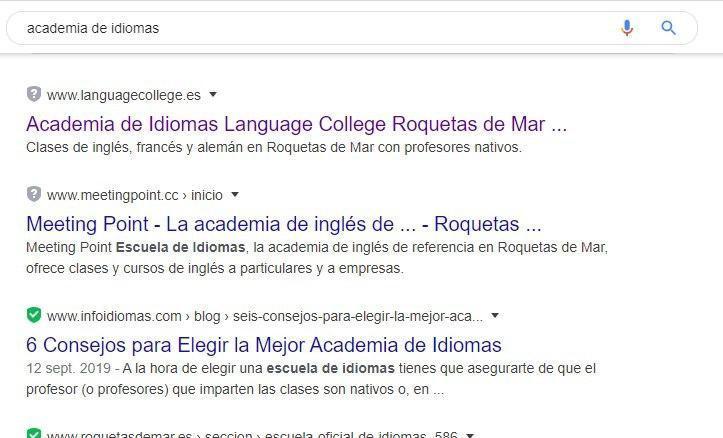 Pagina web Roquetas