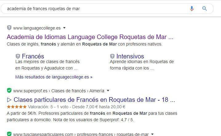 Como conseguir la primera posicion en google en Roquetas de Mar
